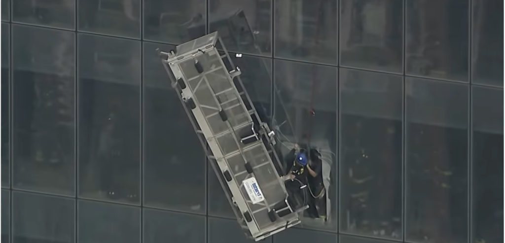 High Rise Window Cleaner Safety and Dangers